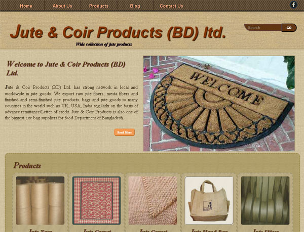 Jute & Coir Products (BD) Ltd. Website