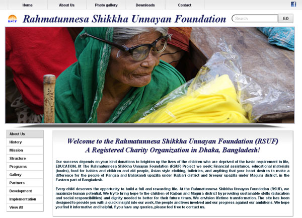 Rahmatunnesa Shikkha Unnayan Foundation (RSUF) Website